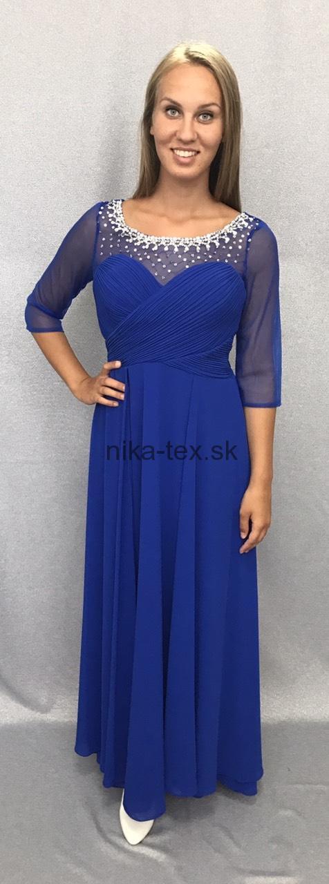 4919e54d89bc modré spoločenské šaty s kamienkami