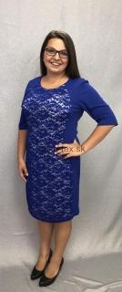 e7eda75bfe9c modré krajkové šaty